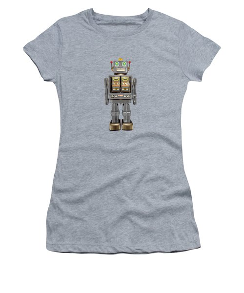 Star Strider Robot Grey Women's T-Shirt