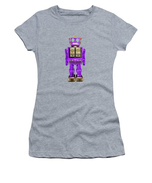 Star Strider Robot Purple Pattern Women's T-Shirt