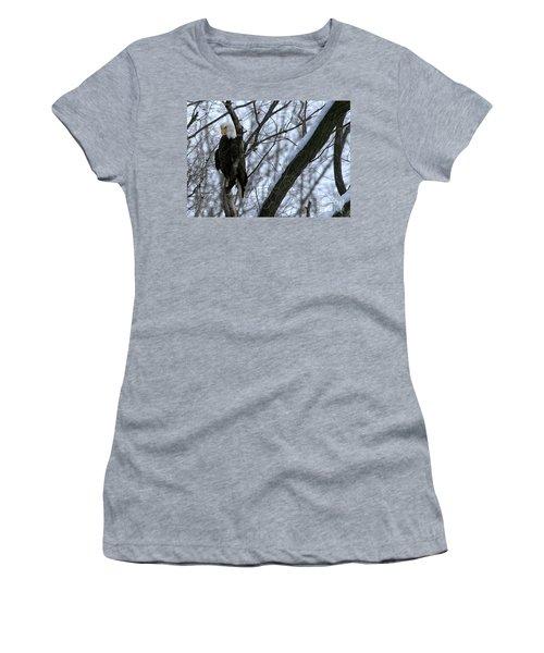 Starved Rock Eagle Women's T-Shirt (Junior Cut)