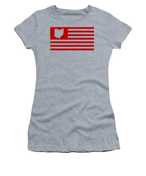 State Of Ohio - American Flag Women's T-Shirt