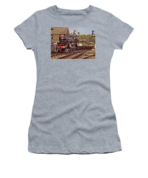Steam Loco On Yorkshire Railway Women's T-Shirt