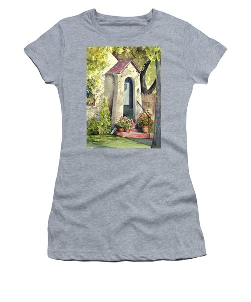 Women's T-Shirt featuring the painting Stephanie's Porch by Sam Sidders