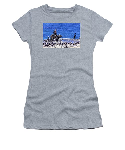 Pelican Sticking His Neck Out Women's T-Shirt (Athletic Fit)