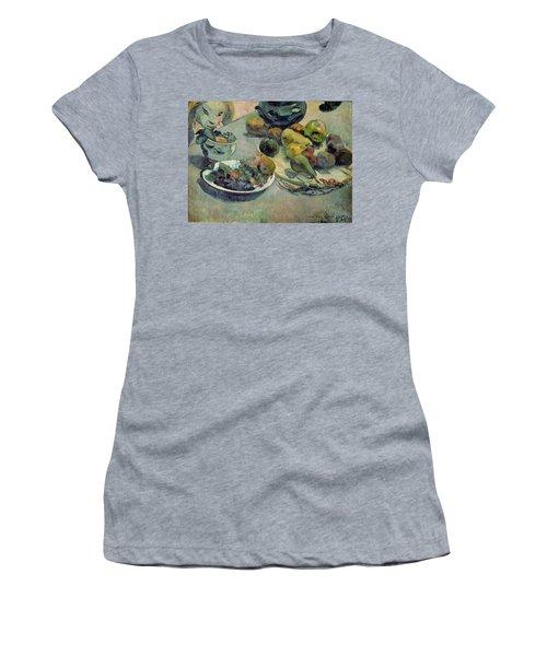 Still Life With Fruit Women's T-Shirt (Junior Cut) by Paul Gauguin