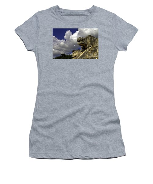 Stone Sky And Clouds Women's T-Shirt (Athletic Fit)