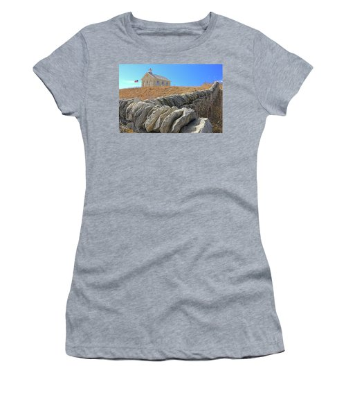 Stone Wall Education Women's T-Shirt (Junior Cut) by Christopher McKenzie