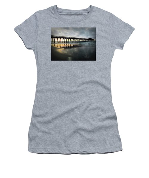 Storm At Sunrise In Color Women's T-Shirt (Athletic Fit)