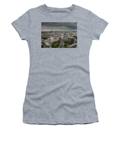 Women's T-Shirt (Athletic Fit) featuring the photograph Storm Over Berlin by Geoff Smith