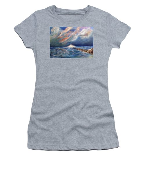 Storm Over The Ocean Women's T-Shirt (Junior Cut) by Dorothy Maier