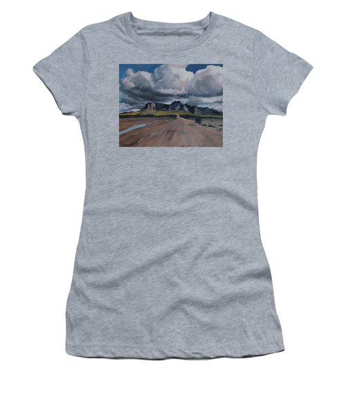 Storm Over The Superstitions Women's T-Shirt (Junior Cut) by Barbara Barber