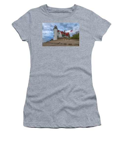 Women's T-Shirt featuring the photograph Stormy Point Betsie 2 by Heather Kenward