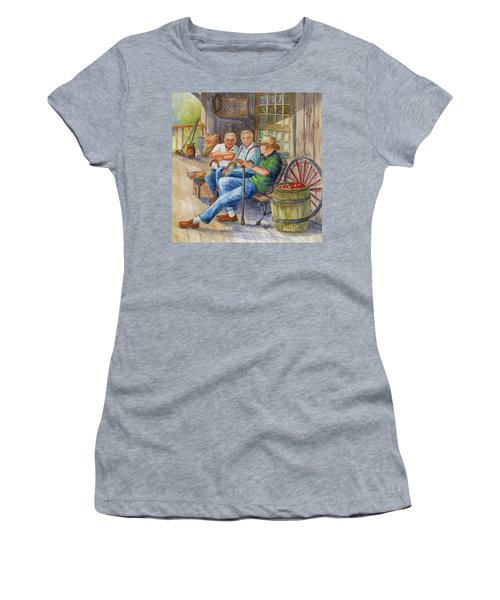 Women's T-Shirt (Junior Cut) featuring the painting Storyteller Friends by Marilyn Smith