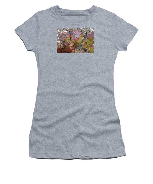 Strawberry Anemonies Women's T-Shirt (Junior Cut) by Chuck Flewelling