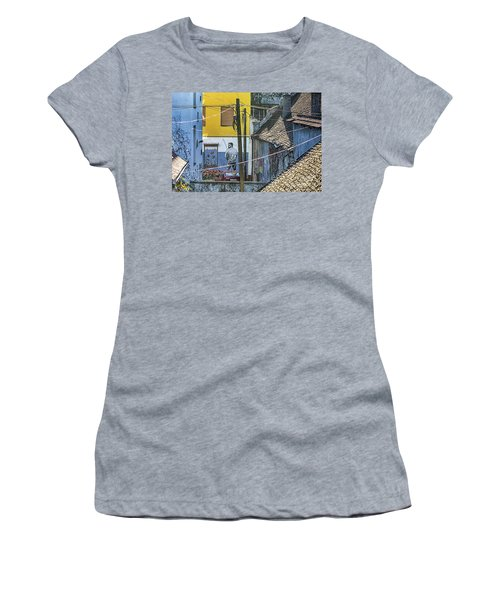 Street Art In Novi Sad - Angler Women's T-Shirt (Junior Cut) by Jivko Nakev