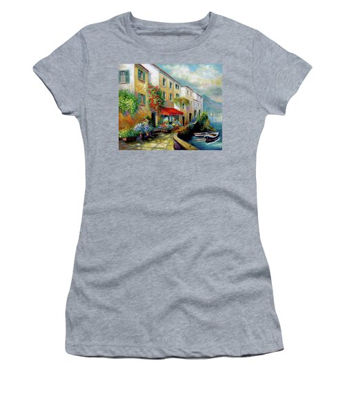 Street In Italy By The Sea Women's T-Shirt