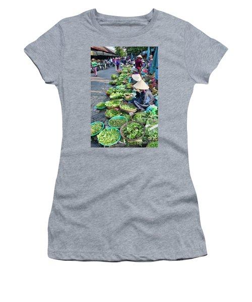 Street Market Hoi An Women's T-Shirt (Junior Cut) by Chuck Kuhn