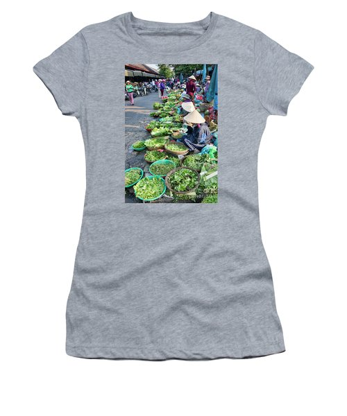 Street Market Hoi An Women's T-Shirt (Athletic Fit)