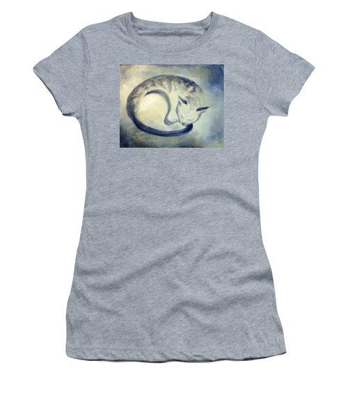Stripey Cat 3 Women's T-Shirt (Junior Cut) by Dina Dargo