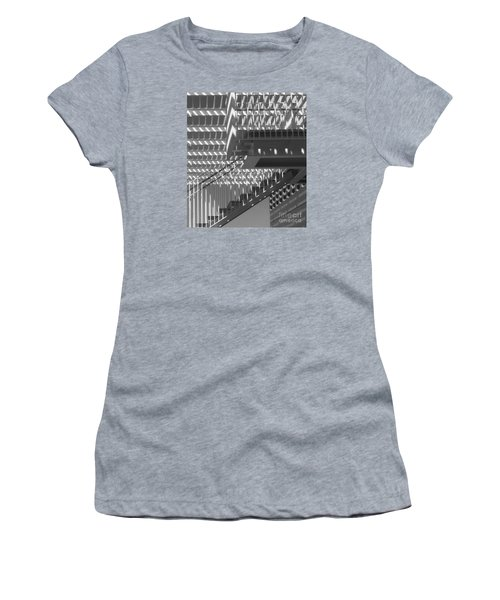 Structure Abstract 8 Women's T-Shirt (Junior Cut) by Cheryl Del Toro