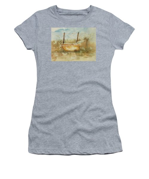 Study Of A Watering Tub Women's T-Shirt (Athletic Fit)