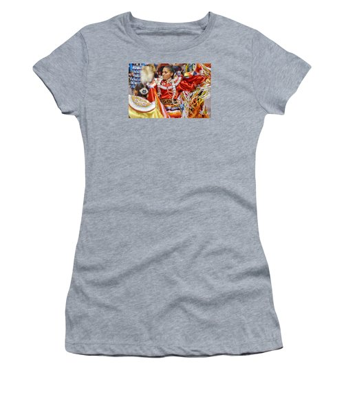 Women's T-Shirt (Junior Cut) featuring the photograph Studying Keya Clairmont 2 by Clarice Lakota