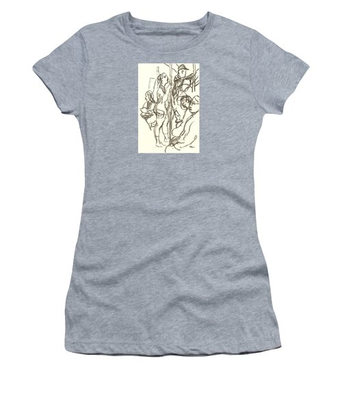 Subway Composition, Nyc Women's T-Shirt (Athletic Fit)