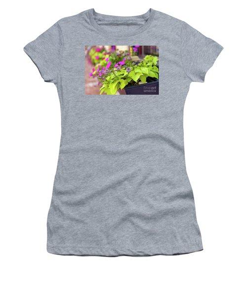 Summer Flowers In Window Box Women's T-Shirt