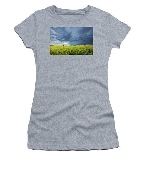Summer Storm Over Alberta Women's T-Shirt