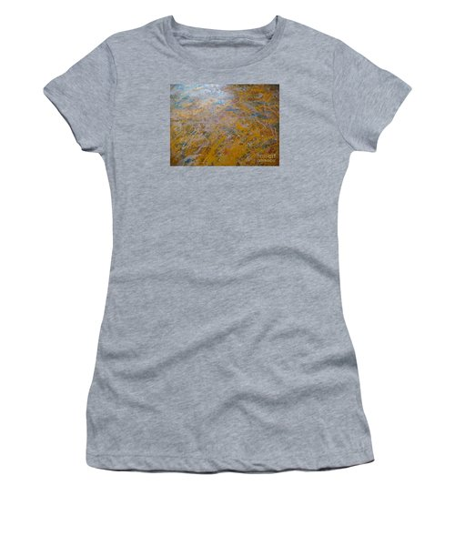 Women's T-Shirt (Junior Cut) featuring the painting Summer Time by Fereshteh Stoecklein