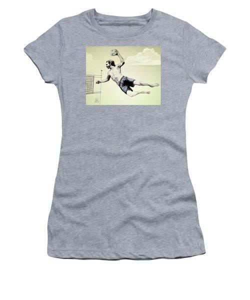 Summer Time Volley Ball Women's T-Shirt (Junior Cut) by Cheryl Poland