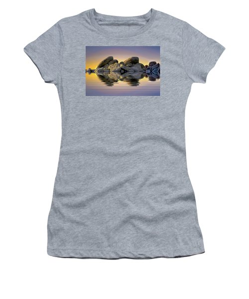Sun Bathed Rocks Women's T-Shirt (Athletic Fit)