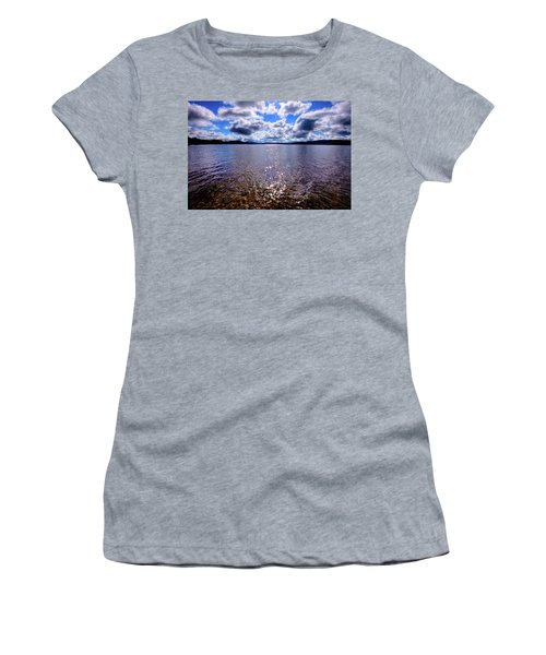 Women's T-Shirt (Athletic Fit) featuring the photograph Sun Shining Over Palmer Point by David Patterson