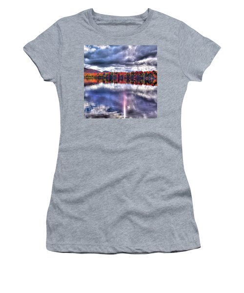 Women's T-Shirt (Junior Cut) featuring the photograph Sun Streaks On West Lake by David Patterson