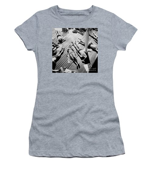 Sun Tanning At The Deligny Swimming Pool, Paris, June, 1963 Women's T-Shirt