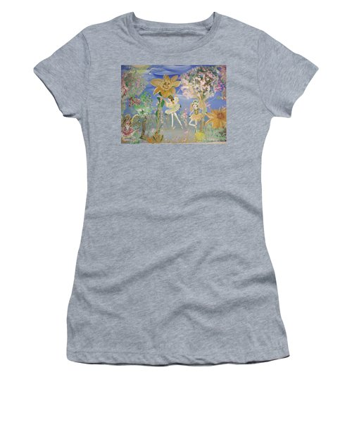 Sunflower Fairies Women's T-Shirt (Junior Cut) by Judith Desrosiers