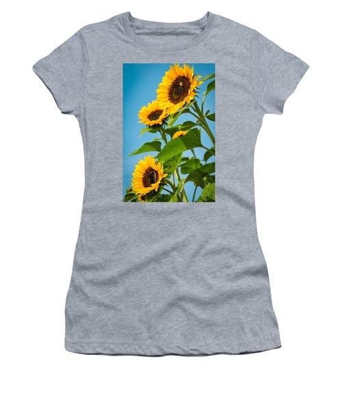Sunflower Morning Women's T-Shirt (Athletic Fit)