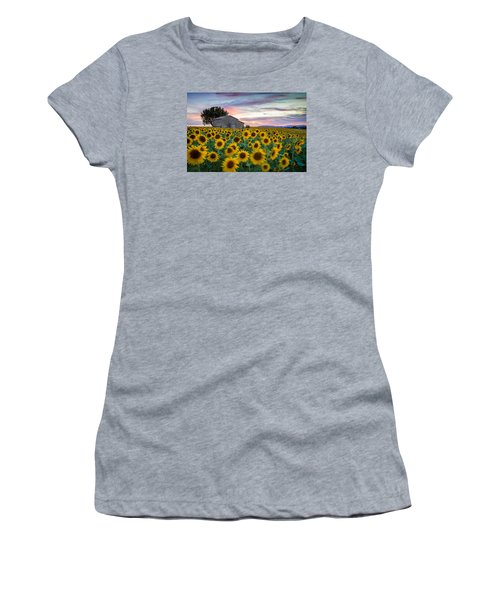 Sunflowers In Provence Women's T-Shirt (Athletic Fit)