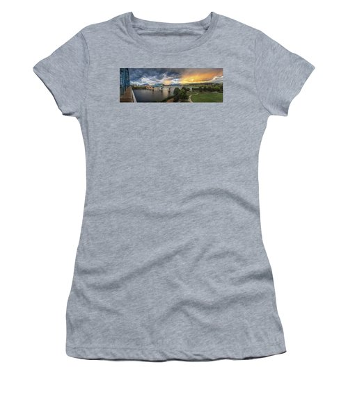 Sunlight And Showers Over Chattanooga Women's T-Shirt (Junior Cut) by Steven Llorca