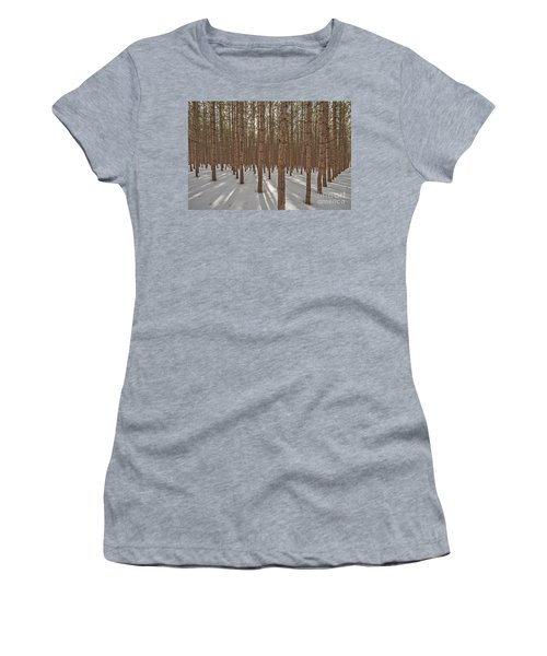 Sunlight Filtering Through A Pine Forest Women's T-Shirt (Athletic Fit)