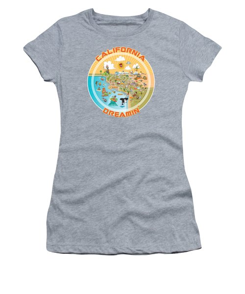 Ultimate Sunny California Beach Paradise Women's T-Shirt (Athletic Fit)