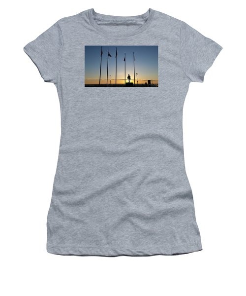 Sunrise At The Firefighters Memorial Women's T-Shirt
