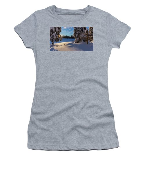 sunrise at the Oderteich, Harz Women's T-Shirt (Junior Cut) by Andreas Levi