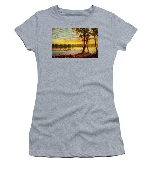 Sunrise On The Columbia Women's T-Shirt
