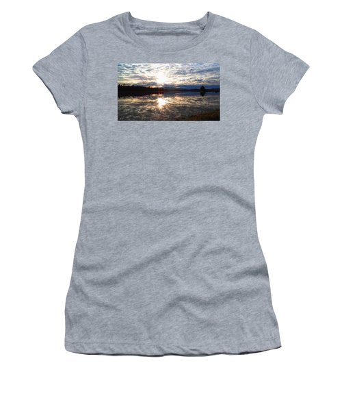 Sunrise Over Flooded Field In Bow Women's T-Shirt (Athletic Fit)