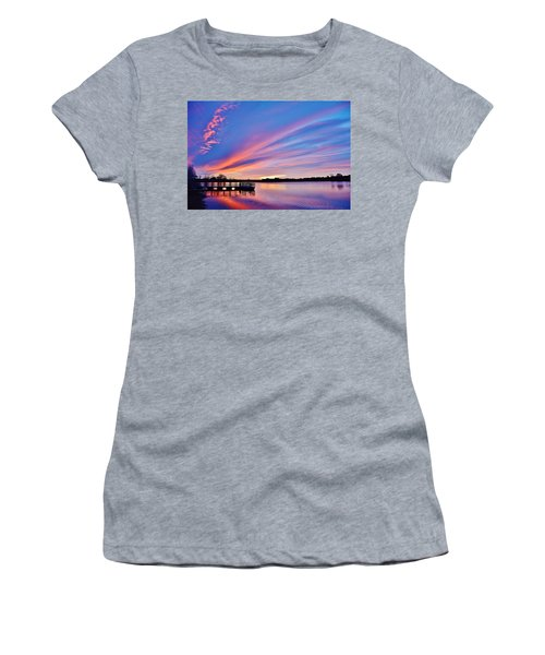 Sunrise Reflecting Women's T-Shirt (Athletic Fit)