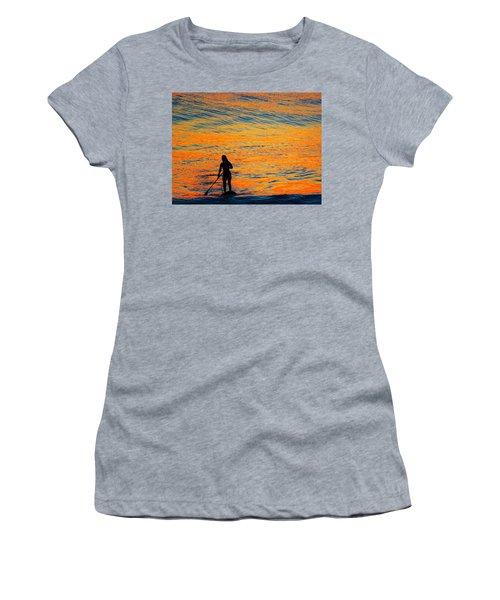 Sunrise Silhouette Women's T-Shirt (Junior Cut) by Kathy Long
