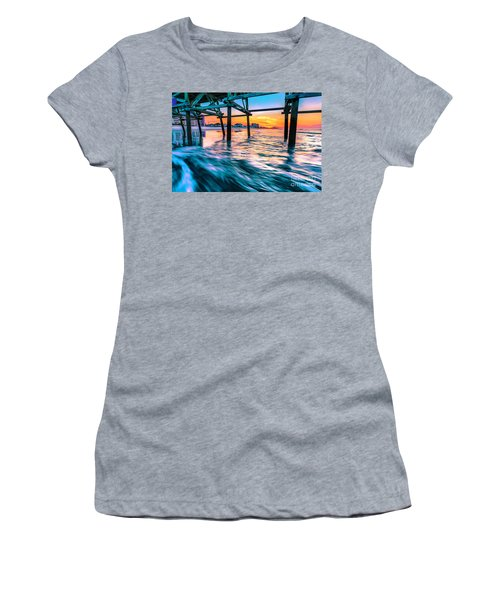 Sunrise Under Cherry Grove Pier Women's T-Shirt