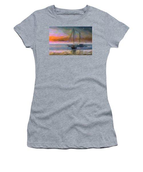 Sunrise With Boats Women's T-Shirt