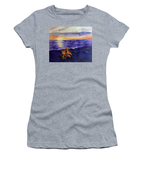 Sunset, Angola On The Lake Women's T-Shirt (Athletic Fit)
