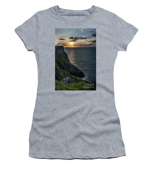 Sunset At Rhossili Bay Women's T-Shirt